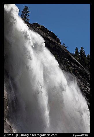 Backlit Nevada Fall. Yosemite National Park (color)