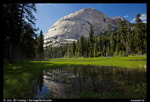 Half-Dome from Hidden Lake. Yosemite National Park (color)