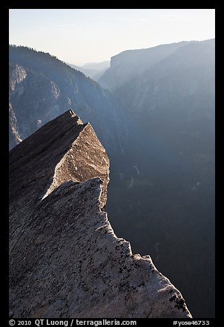 Diving Board and Yosemite Valley, late afternoon. Yosemite National Park (color)