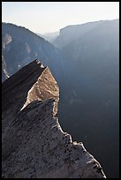 Diving Board and Yosemite Valley, late afternoon. Yosemite National Park, California, USA. (color)