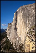 Face of Half-Dome seen from the Diving Board. Yosemite National Park ( color)