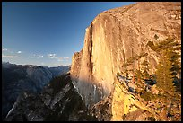 Tenaya Canyon and face of Half-Dome at sunset. Yosemite National Park ( color)
