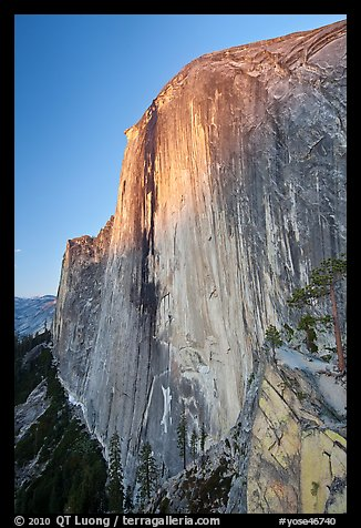 Last light on North-West face of Half-Dome. Yosemite National Park (color)