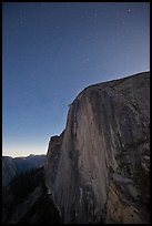 Face of Half-Dome by night. Yosemite National Park, California, USA. (color)