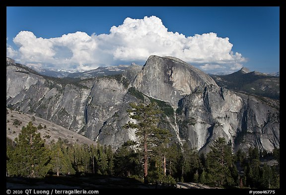 Half-Dome and cloud. Yosemite National Park (color)