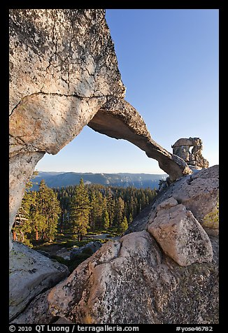 Indian Rock natural arch. Yosemite National Park (color)