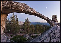 Indian Arch and Half-Dome at dusk. Yosemite National Park, California, USA. (color)