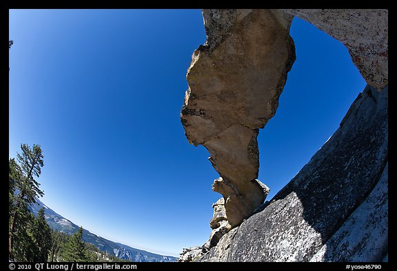 Indian Arch from below. Yosemite National Park (color)
