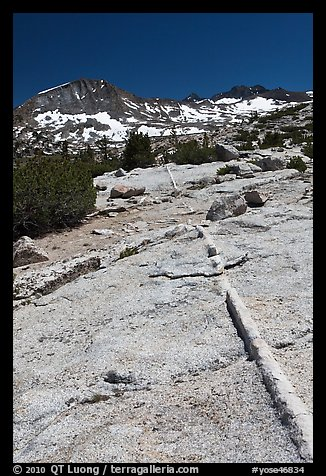 Slabs and Lyell Peak in distance. Yosemite National Park (color)