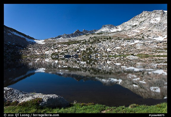 Alpine lake and peak, Vogelsang. Yosemite National Park (color)