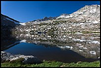 Alpine lake and peak, Vogelsang. Yosemite National Park ( color)