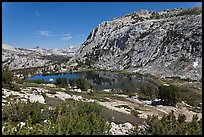 High Sierra landscape with Fletcher Peak and Vogelsang Lake. Yosemite National Park ( color)
