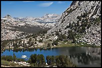 Choo-choo ridge, Vogelsang Lake, and Fletcher Peak buttress. Yosemite National Park ( color)