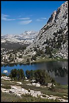 Vogelsang Lake and distant Choo-choo ridge. Yosemite National Park ( color)