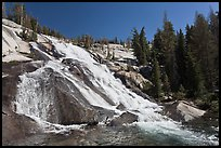 Stream flowing over steep smooth granite, Lewis Creek. Yosemite National Park ( color)