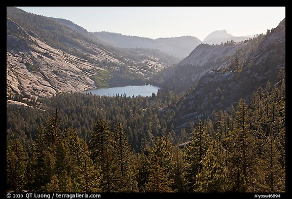 Merced Lake from above. Yosemite National Park (color)
