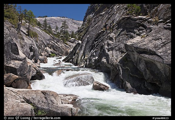 Gorge, Upper Merced River Canyon. Yosemite National Park (color)