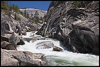 Gorge, Upper Merced River Canyon. Yosemite National Park, California, USA. (color)