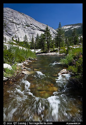 Merced River, Upper Merced River Canyon. Yosemite National Park (color)