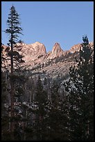 Spires of Matthews Crest at dusk. Yosemite National Park ( color)
