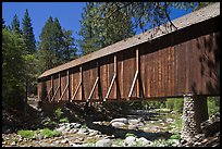 Covered bridge, Wawona historical village. Yosemite National Park, California, USA. (color)