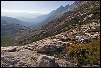 McCabe Creek from McCabe Pass, late afternoon. Yosemite National Park, California, USA. (color)