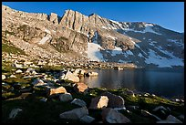 North Peak above Upper McCabe Lake, late afternoon. Yosemite National Park ( color)