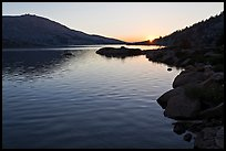 Sun setting over Upper McCabe Lake. Yosemite National Park ( color)