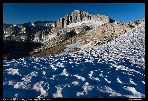 Snow field and North Peak, morning. Yosemite National Park (color)