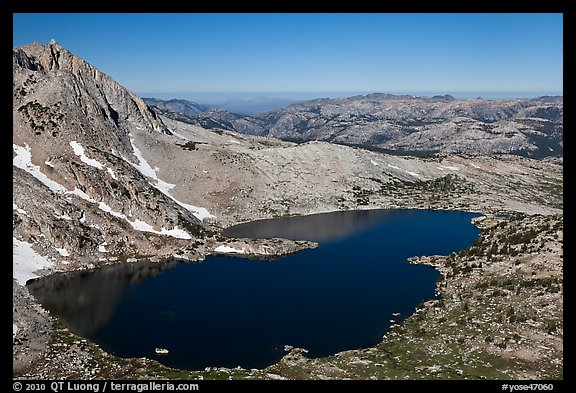 Upper McCabe Lake from above. Yosemite National Park (color)