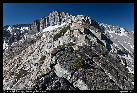 Rocky ridge and North Peak. Yosemite National Park (color)