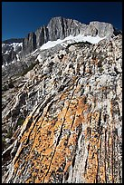 Colorful rock and North Peak. Yosemite National Park ( color)