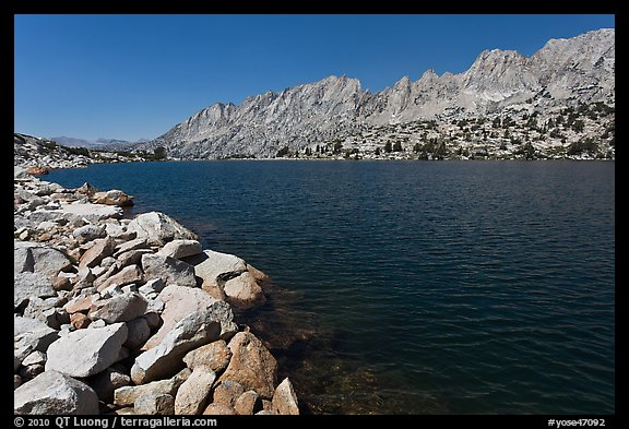 Shepherd Crest and Upper McCabe Lake shore. Yosemite National Park (color)