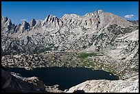 Shepherd Crest and Upper McCabe Lake from above. Yosemite National Park ( color)