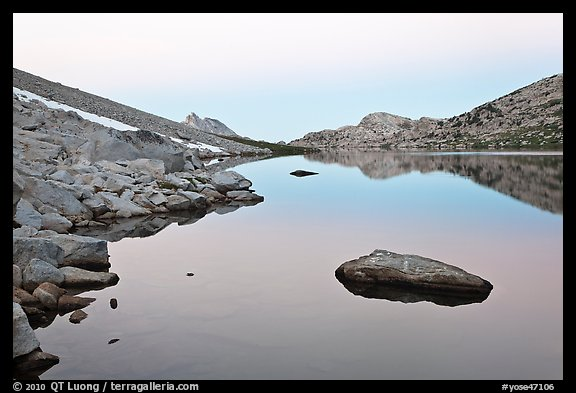 Roosevelt Lake at dawn. Yosemite National Park (color)