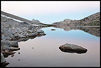 Roosevelt Lake at dawn. Yosemite National Park ( color)
