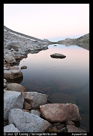 Alpine lake at dawn. Yosemite National Park (color)