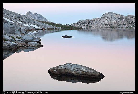 Dawn over Roosevelt Lake. Yosemite National Park (color)