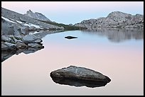 Dawn over Roosevelt Lake. Yosemite National Park ( color)