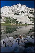 Craggy Peak and Sierra lake. Yosemite National Park ( color)