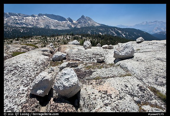 Boulders, slabs, and Ragged Peak. Yosemite National Park (color)