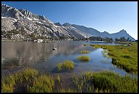 Upper Young Lake and Ragged Peak range. Yosemite National Park, California, USA. (color)