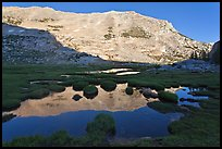 White mountain crest reflected in tarns. Yosemite National Park ( color)