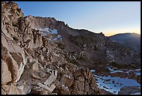 East amphitheater of Mount Conness at dawn. Yosemite National Park ( color)
