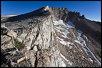 Steep rock walls, Mount Conness. Yosemite National Park ( color)