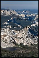 Ragged Peak, Fairview Dome, Half-Dome. Yosemite National Park ( color)