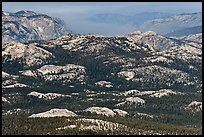 Distant view of the Grand Canyon of the Tuolumne. Yosemite National Park, California, USA. (color)