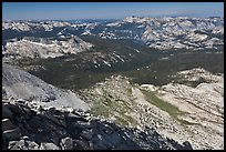 West ridge of Mount Conness and Alkali Creek. Yosemite National Park, California, USA. (color)