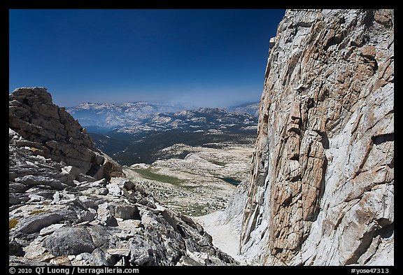 Notch below Mount Conness summit. Yosemite National Park (color)