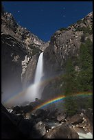 Space rainbow, Lower Yosemite Fall. Yosemite National Park, California, USA. (color)
